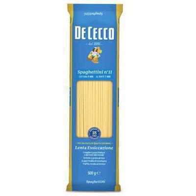 de cecco spaghettini n.11 gr.500