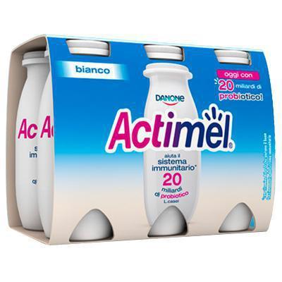 danone actimel bianco ml 100 x 6