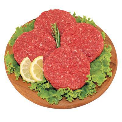 hamburger bovino formato famiglia 4 pezzi al kg