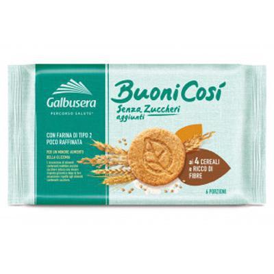 galbusera buoni cosi biscotti ai cereali  senza zuccheri  aggiunti gr.300