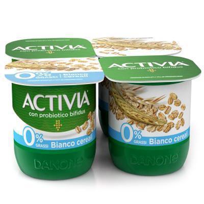 danone activia yogurt bianco cereali 0,1  gr.125x4