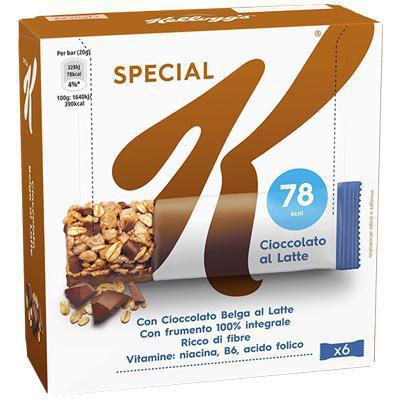kellogg's  barretta special k cioccolato latte  gr.120