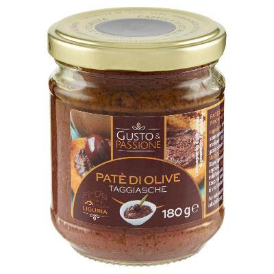 gusto & passione pate' olive taggiasche gr.180