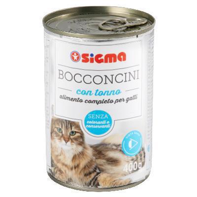 sigma bocconcini per gatto con tonno gr.400