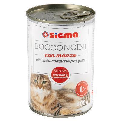 sigma bocconcini per gatto con manzo gr.400