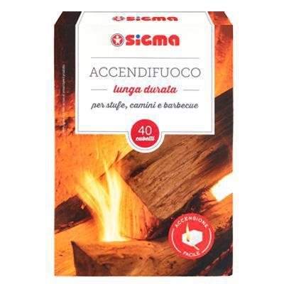 sigma accendi fuoco inodore 40 cubi