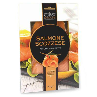 scelto salmone scozia affumicato a fette gr.70