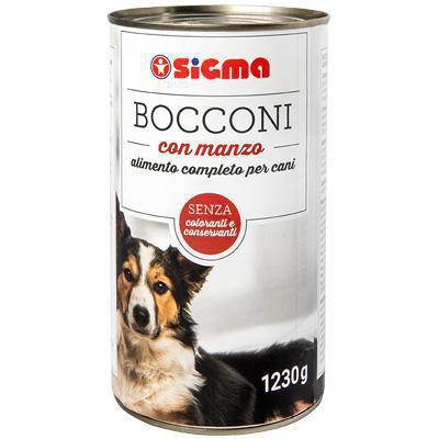 sigma bocconi per cane con carne gr.1230