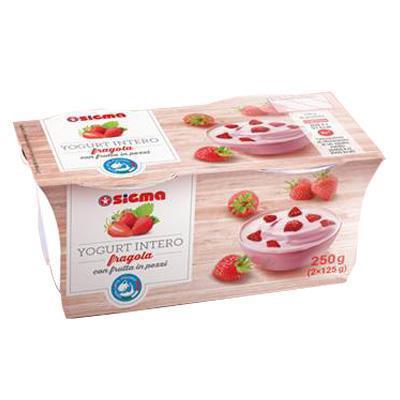 sigma yogurt fragola gr.125x2