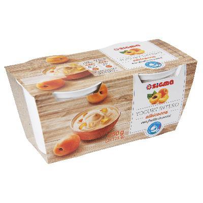 sigma yogurt albicocca latte 100% italiano gr.125 x 2