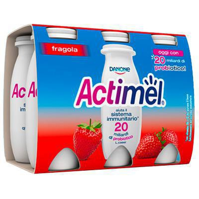 danone actimel fragola ml.100 x 6
