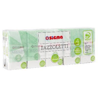 sigma fazzoletti  pura ovatta di cellulosa x 10 pacchetti
