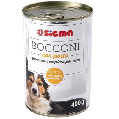 sigma cane bocconi di pollo latta gr.400