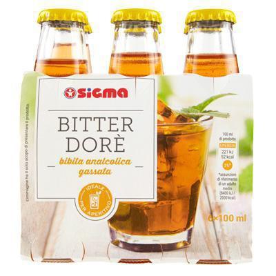 sigma bitter dore` analcolico ml.100 x 6