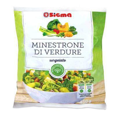 sigma minestrone di verdure surgelato gr.450