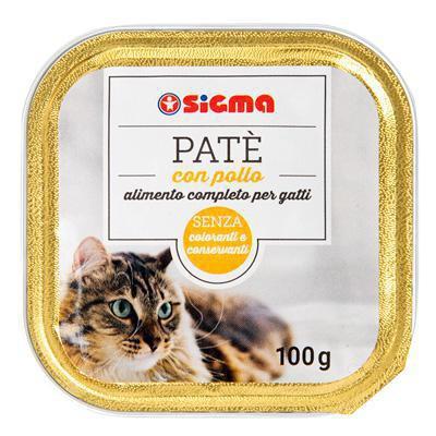 sigma pate' per gatti con pollo gr.100