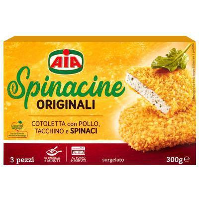 aia spinacine con pollo e spinaci in foglia gr.200