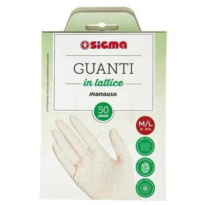 sigma guanti monouso taglia grande pz.50