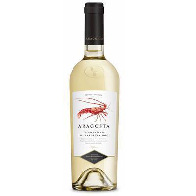 aragosta vino vermentino di sardegna cl.75