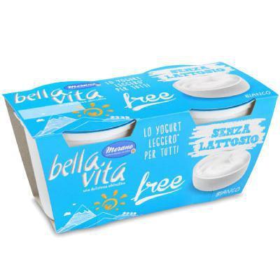 bellavita yogurt bianco senza lattosio gr.125x2