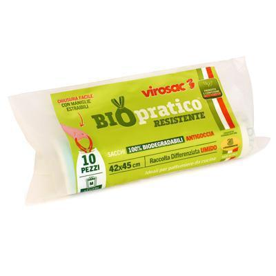 virosac sacco immondizia cm.42x45 pz.10 rifiuto umido biodegradabile