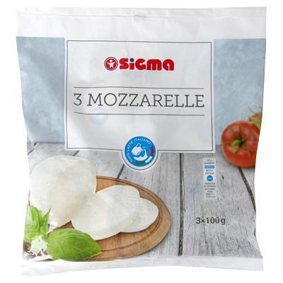 sigma mozzarella gr.100x3 latte 100% italiano