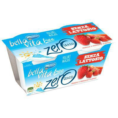 bellavita yog.zero fragola/frutti bosco gr.125x2
