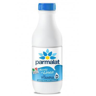 parmalat latte parzialmente scremato bottiglia 100% italiano lt.1