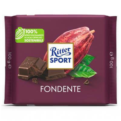 ritter sport tavoletta cioccolato fondente 50% cacao gr.100