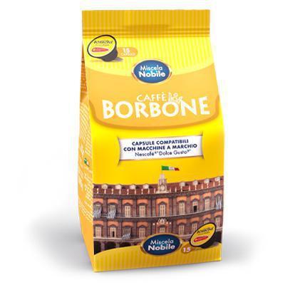 borbone  capsule compatibili dolce gusto miscela nobile 15 cps