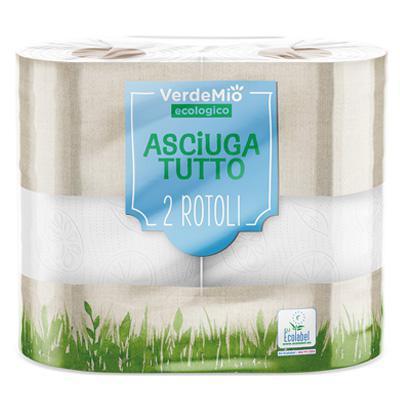 verdemio asciugatutto ecologico  2 rotoli