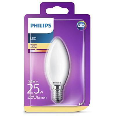 philips lampadina led candela 25w e14 calda a+