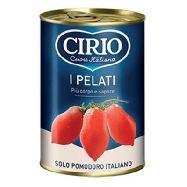 cirio pomodori pelati gr.400/250 solo pomodoro italiano
