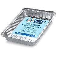 misterpack vaschette alluminio con coperchio 2 pezzi 6 porzioni
