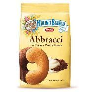 mulino bianco biscotti abbracci  con panna e cacao gr.350