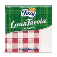 foxy tovaglioli 33x33 bianco/scozzesi doppiovelo