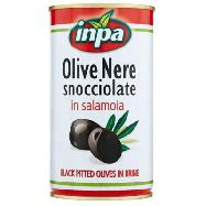 inpa olive nere snocciolate latta  gr.340/150