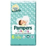 pampers pannolini baby dry junior taglia 6 extra large kg.15-30 14 pezzi