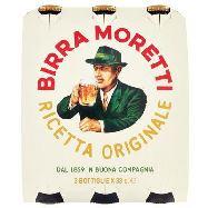 moretti birra cl.33 x 3