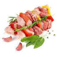 spiedini rustico  2 spiedini  (carne suino,carne tacchino,salsiccia,salvia) al kg