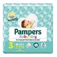 pampers pannolini baby dry junior taglia 5 kg.11-25 17 pezzi