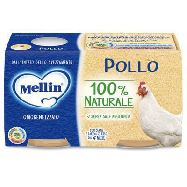 mellin omogenizzato pollo gr.80x2 dal 4° mese