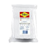 bibo forchette plastica bianche pz.100