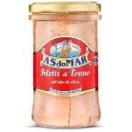 as do mar filetti di tonno olio di oliva  gr. 250 barattolo vetro