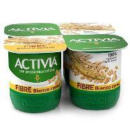 danone activia yogurt fibre bianco cereali gr. 125x4