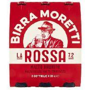 moretti birra la rossa cl.33x3