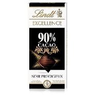 lindt tavoletta excellence 90% cacao gr.100