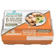 granarolo uova fresche  medie pezzi 6 da allevamento a terra