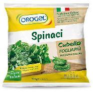 orogel spinaci cubello foglia più gr.900