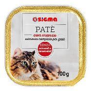 sigma pate'per gatti con manzo gr.100